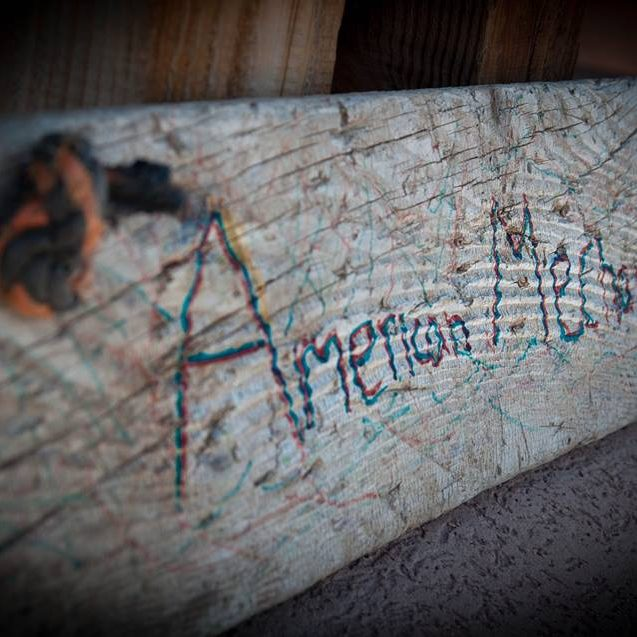 American Mechanical Wood Sign